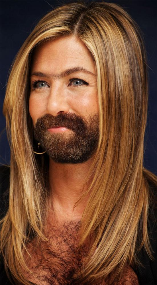 Final, sorry, Female celebrities with facial hair and shame!